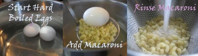 Boil Egg and Macaroni
